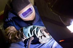 Welder at work. Stock Images
