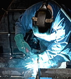 Welder at work. (industrial photo Stock Image