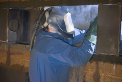 Welder at work. (industrial photo Royalty Free Stock Image