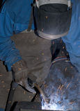 Welder at work. Royalty Free Stock Photography
