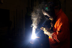 Welder @ work Royalty Free Stock Photo