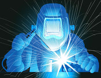 Welder at work. Vector illustration of a welder at work Stock Photography