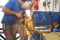 Welder at work Stock Photo