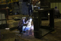 Welder at work. In Factory, Bangkok , Thailand royalty free stock images