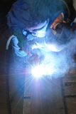 Welder at work. Royalty Free Stock Image