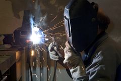 Welder by the work Royalty Free Stock Photo