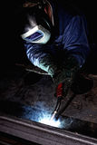 Welder at work Stock Photos