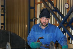 Welder at work. Industrial photo stock images
