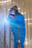 Welder at work. Industrial photo Royalty Free Stock Photography