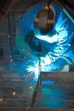 Welder at work. (industrrial photo stock image