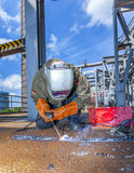 Welder at work at the famous Stock Image