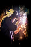 Welder work hard Stock Photo
