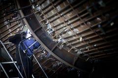 Welder at work in industrial surrounding Stock Image