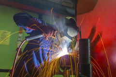 Welder at work. On location Stock Images