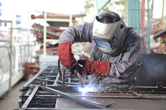 Welder at work Stock Photography