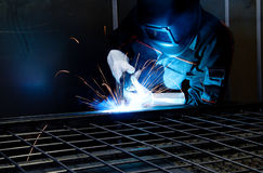 Welder at work Royalty Free Stock Photos