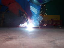 Welder. At work Royalty Free Stock Image
