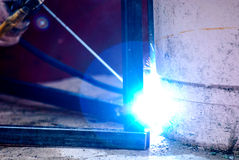 Welder at work, welding Stock Photo