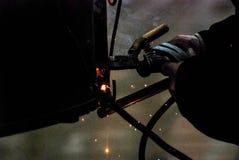 Welder at work, welding Stock Photos