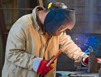 Welder at work Stock Image