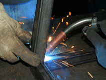welder work7 royaltyfria foton