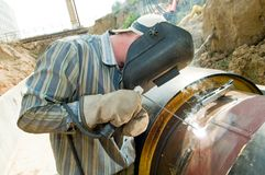 Welder worker Stock Images