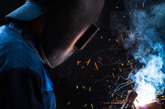 A welder Royalty Free Stock Photos
