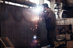 Welder worker profession Stock Photos