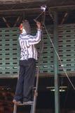 Welder worker Stock Photo
