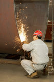 A welder  is working Stock Image