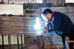 A welder  is working Royalty Free Stock Images
