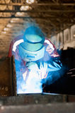 A welder  is working Stock Images