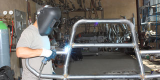 A welder working Royalty Free Stock Images