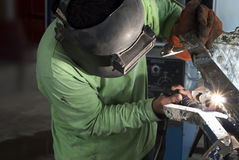 Welder working Royalty Free Stock Image