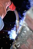 Welder working. Royalty Free Stock Photo