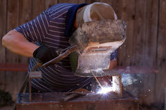 Welder working Stock Photos