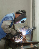 Welder working Stock Photo