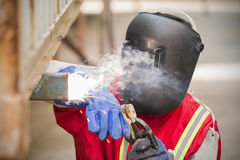 Welder are working. Stock Image