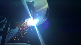 Welder working. Industrial video. stock video