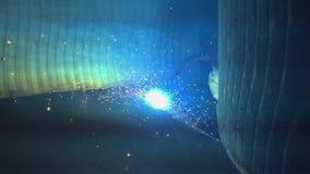 Welder working. Industrial video. stock video footage