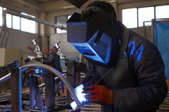 Welder works Stock Photography