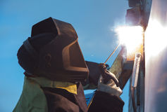 Welder works Royalty Free Stock Image