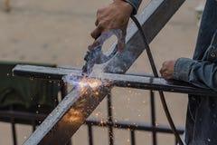 Welder works Stock Photos