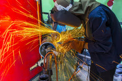 Welder at workshop Stock Image