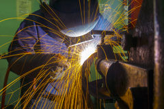 Welder at workshop Stock Photography