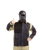 Welder in workwear suit. Royalty Free Stock Images