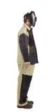 Welder in workwear suit.  Side Stock Photos