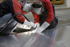 Welders 1. The welders have the night shift Royalty Free Stock Photography