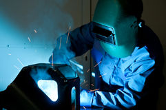 3 welders Стоковое Изображение