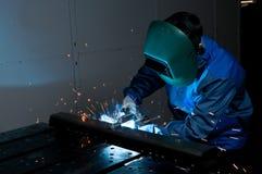 3 welders Стоковые Фотографии RF